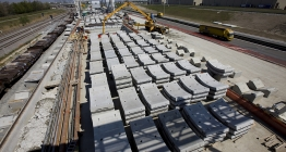 Concrete ring segments used for the construction of the Liefkenshoek Rail Link tunnels