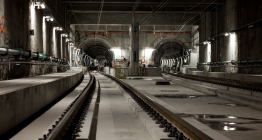 The two shafts of the bored tunnel under Brussels Airport