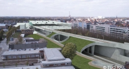 Simulation of the bypass and the new access road (Mechelen)