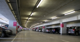 Inside view of the station car park in Nivelles