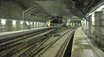 Press visit in the Schuman-Josaphat tunnel before opening to traffic (April 2016)